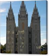 Mormon Temple Fall Canvas Print