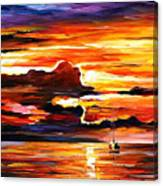 Morning After The Storm - Palette Knife Oil Painting On Canvas By Leonid Afremov Canvas Print
