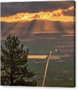 Morning Angel Lights Over The Valley Canvas Print
