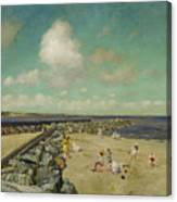 Morning At Breakwater, Shinnecock Canvas Print