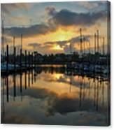 Morning At The Marina Canvas Print