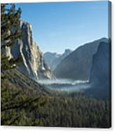 Morning At Tunnel View Canvas Print