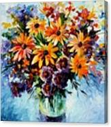Morning Bouquet Canvas Print