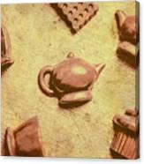Morning Breakfast Chocolate Tea Set  Canvas Print