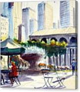 Morning, Bryant Park  Canvas Print