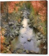 Morning By The Creek Canvas Print