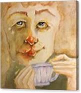 Morning Coffee Girl Canvas Print