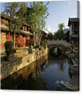 Morning Comes to Lijiang Ancient Town Canvas Print