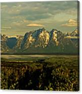 Morning Dawns On The Tetons Canvas Print