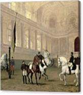 Morning Exercise In The Hofreitschule Canvas Print