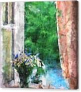 Morning Flowers Canvas Print