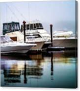 Morning Fog At Boothbay Canvas Print