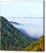 Morning Fog At Sunrise In Autumn Canvas Print