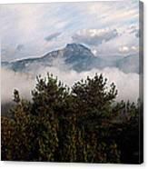 Morning Fog In Autumn In The Verdon Canvas Print