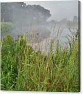 Morning Fog On Glacial Park Pond Canvas Print