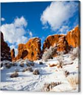 Morning Glow At Arches I Canvas Print