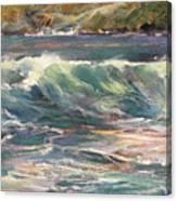 Morning Glow On Sugar Beach Canvas Print