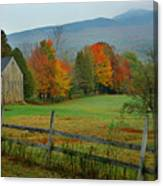 Morning Grove - New England Fall Monadnock Farm Canvas Print