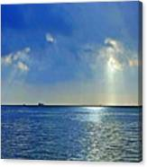 Morning Has Broken Galveston Bay Canvas Print
