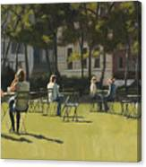 Morning In Bryant Park Two Canvas Print