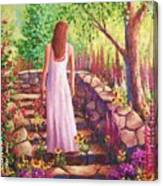 Morning In Her Garden Canvas Print