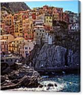 Morning In Manarola Cinque Terre Italy Canvas Print