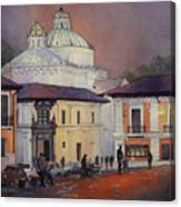 Morning In The Plaza- Quito, Ecuador Canvas Print