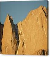 Morning Light On Mt. Whitney Canvas Print