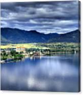 Morning Light On Okanagan Lake Canvas Print