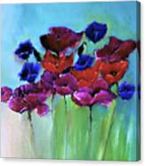 Morning Light Poppies Painting Canvas Print
