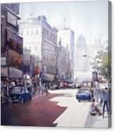 Morning Light Shadow In Kolktaa Canvas Print