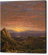 Morning Looking East Over The Hudson Valley From The Catskill Mountains Canvas Print