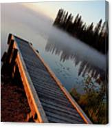 Morning Mist Over Lynx Lake In Northern Saskatchewan Canvas Print