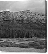 Morning Mountains In Yellowstone Canvas Print