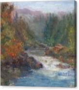 Morning Muse - Original Contemporary Impressionist River Painting Canvas Print