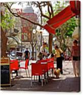 Morning On A Street In Tel Aviv Canvas Print
