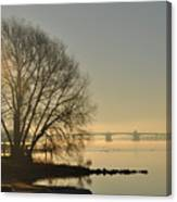 Morning On The Bay Bridge Canvas Print