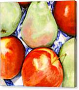 Morning Pears and Apples Canvas Print