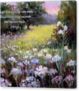 Morning Praises With Bible Verse Canvas Print