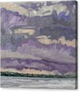 Morning Rain Clouds Canvas Print