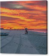 Morning Red Sky At Cape May New Jersey Canvas Print