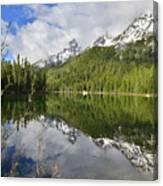 Morning Reflection On String Lake Canvas Print