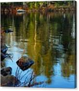 Morning Reflections On Chad Lake Canvas Print