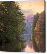 Morning River View  Canvas Print
