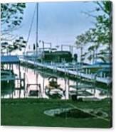 Morning Stillness In Williams Bay, Wi Canvas Print