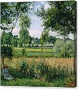 Morning Sunlight Effect, Eragny Canvas Print