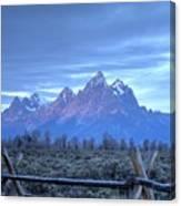 Morning Sunrise In The Tetons Canvas Print