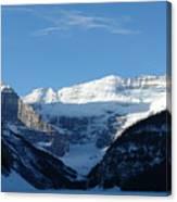 Morning Sunshine Kisses Snowy Peaks Canvas Print