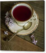 Morning Tea With Lilacs Canvas Print