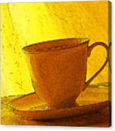 Morning Teacup Canvas Print